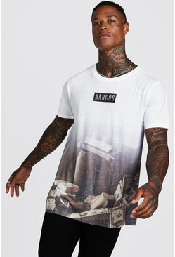 T-shirt Narcos officiel, Gris, Homme