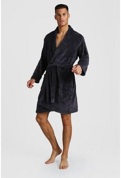 Mens Black Fleece Gown