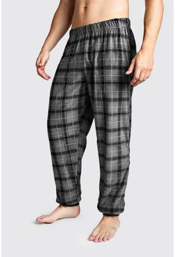 Black Check Cuffed Lounge Pants