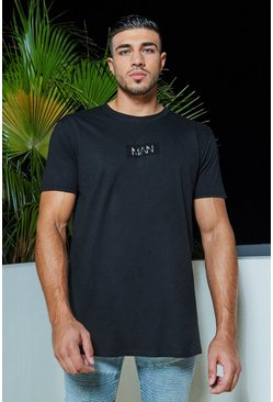 Mens Black MAN Official Stud Logo T-Shirt