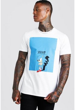 Mens White Sonic License T-Shirt