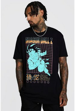 "Oversized T-Shirt mit ""Dragon Ball Z""-Print, Schwarz, Herren"