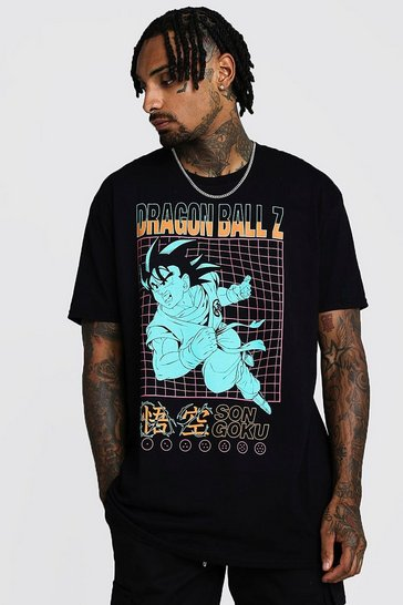 Mens Black Oversized Dragonball Z T-Shirt