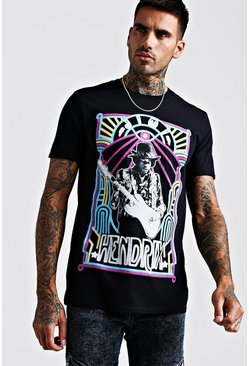 Herr Black Jimmy Hendrix Neon License Tee