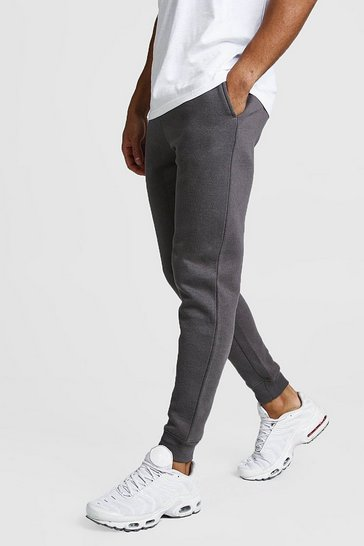 Mens Charcoal Basic Skinny Fit Jogger