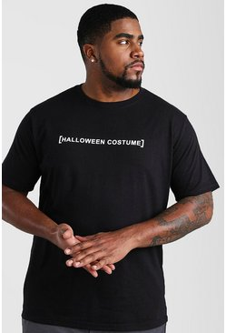 T-shirt Big And Tall con costume di Halloween, Nero, Maschio