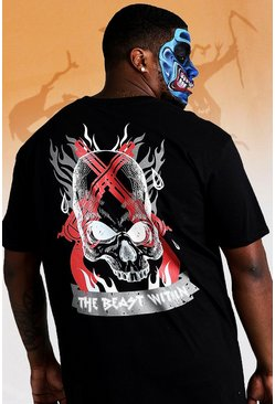 Herr Black Big And Tall The Beast Within T-Shirt