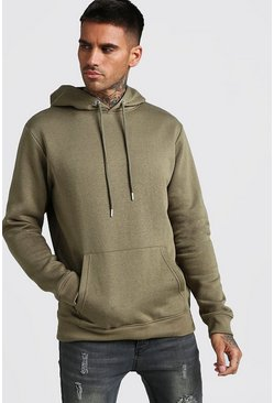 Herr Khaki Basic Over The Head Fleece Hoodie