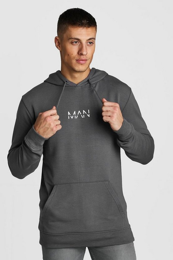 Charcoal Original Man Muscle Fit Oth Hoodie