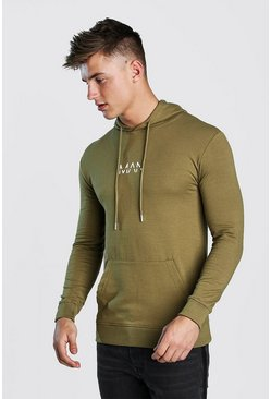 Herr Khaki Original Man Muscle Fit Oth Hoodie