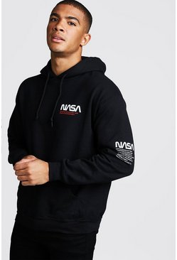 Sweat à capuche NASA officiel, Noir