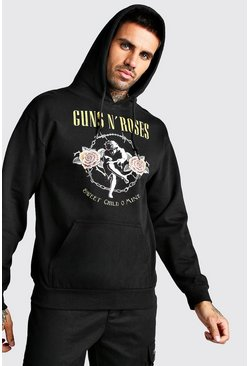 Herr Black Guns & Roses License Hoodie