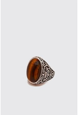 Brown Stone Signet Ring