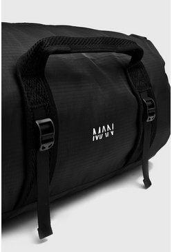 Mens Black MAN Print Lightweight Holdall Bag