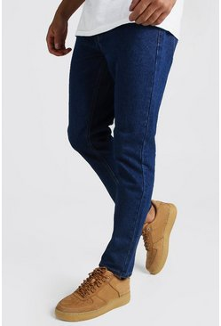 Dark blue Slim fit jeans i rigid denim