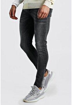 Jeans super skinny, Gris oscuro