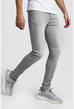 Spray On Skinny Jeans, Light grey