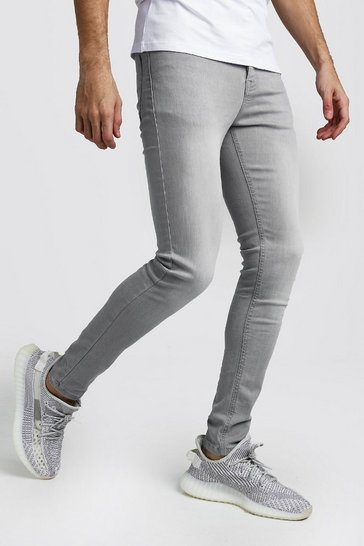 Light grey Spray On Skinny Jeans