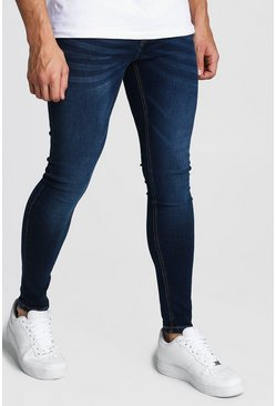 Spray On Skinny Jeans, Washed indigo