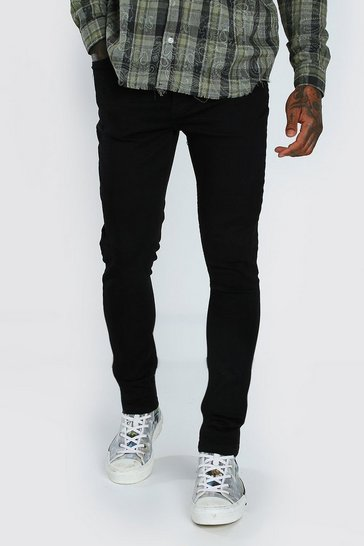 Black Skinny Jeans With Abraisions