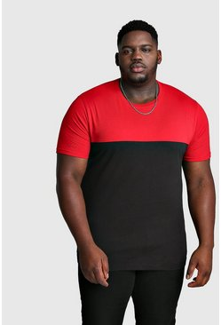 Big And Tall Colour Block T-Shirt, Red