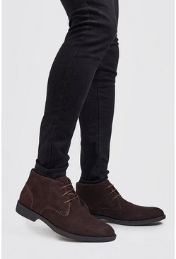 Brown Real Suede Desert Boot