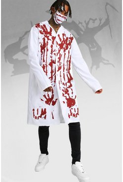 Herr White Halloween Blood Covered Doctor Costume