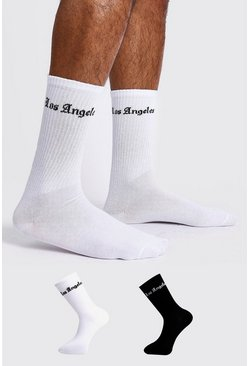 Mens Multi 2 Pack Los Angeles Sock