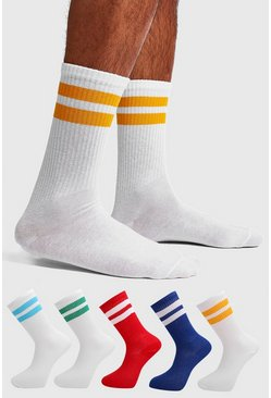 Multi 5 Pack Mixed Sport Stripe Sock