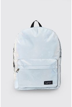 Grey Reflective Backpack