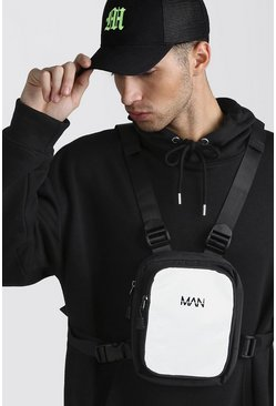 Grey Reflective MAN Tab Chest Bag
