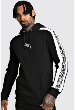 Herr Black B&M OTH Fleece Hoodie With Baroque Panels