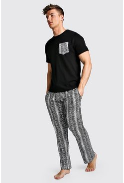 Black Snake Pant Lounge Set