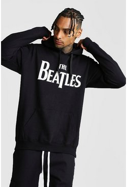 Beatles License Hoodie, Black