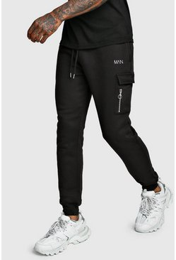Original MAN Cargo Jogger With Zips, Black, HOMBRE
