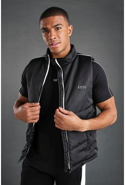 Black MAN Active Gilet With Reflective Detail