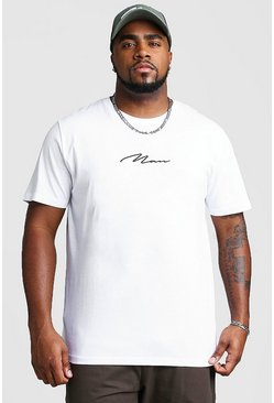 Big And Tall MAN Script T-Shirt, White