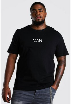 Black Big And Tall MAN Dash T-Shirt