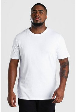 White Big And Tall Basic T-Shirt