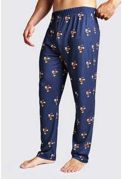Navy Disney Mickey Printed Lounge Pant