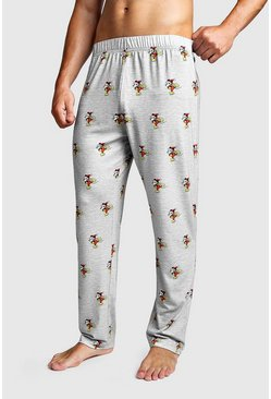 Grey Disney Mickey Printed Lounge Pant