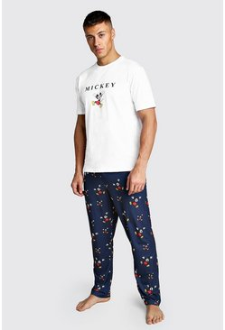 Mens Navy Disney Mickey Lounge Set