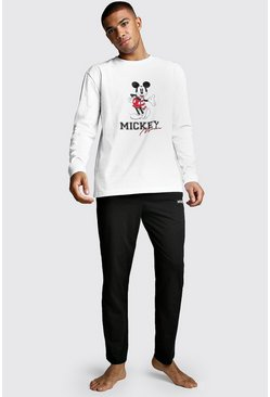 Black Disney Mickey Long Sleeve Lounge Set