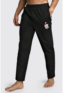 Black Disney Mickey Christmas Lounge Pant