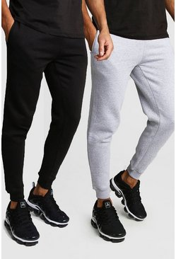 Lot de 2 joggings skinny, Multi