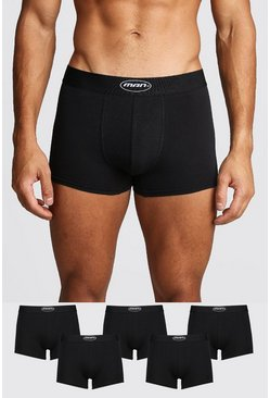 5 Pack MAN Oval Trunk, Black