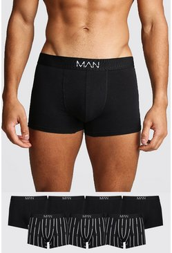7 Pack MAN Stripe Trunk, Black