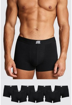 Mens Black 7 Pack Gothic M Trunk
