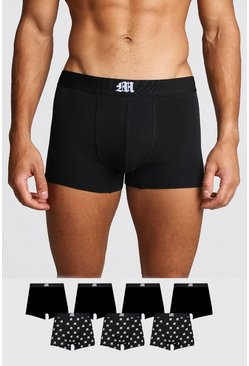 Mens Black 7 Pack Gothic M Mixed Trunk