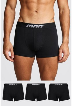Black 3 Pack MAN Gradient Trunk